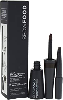 LashFood BrowFood Aqua Brow Powder + Pencil Duo - # Dark Brunette -