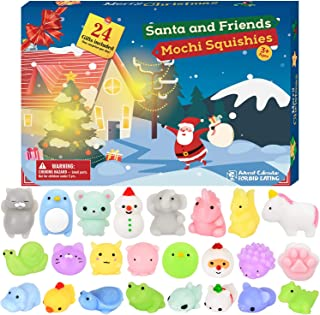 BATTOP Advent Calendar 2019 Christmas Countdown Calendar Toy 24Pcs Different Cute Mochi Animals Squishy Toys for Kids