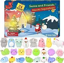 BATTOP Advent Calendar 2019 Christmas Countdown Calendar Toy 24Pcs Different Cute Mochi Animals Squishy Toys for Kids