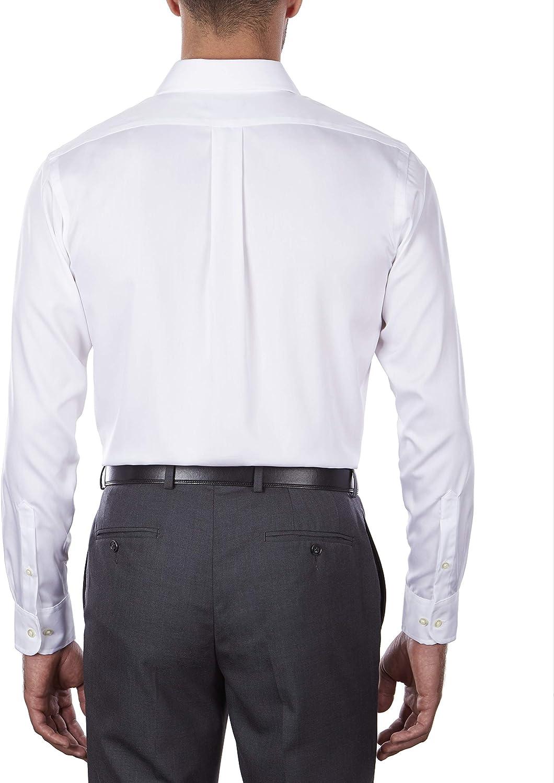 Chaps Men's Dress Shirt Regular Fit Non Iron Stretch Solid