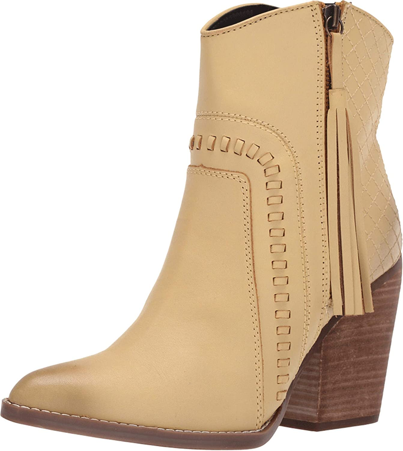Dingo Womens Dream low-pricing Booties Casual Mid White - Off Don't miss the campaign Heel 2-3