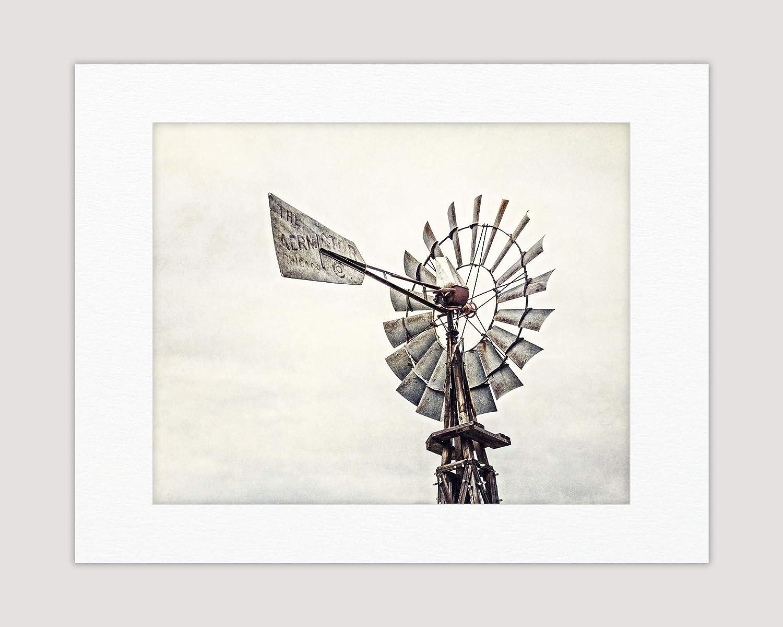 Windmill Print 303mm x 406mm Landscape Print Countryside Photo English Windmill Mounted Photo Print Countryside Print Nature Print