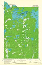 YellowMaps Iron Lake MN topo map, 1:24000 Scale, 7.5 X 7.5 Minute, Historical, 1963, Updated 1965, 27.23 x 21.53 in