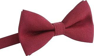 ربطة عنق كلاسيكية للرجال والأولاد - ربطة عنق رسمية مسبقة الربط لحفلات السهرة الرسمية