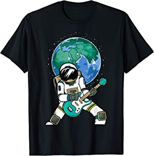 Space-Man Astronauts Playing Guitar Funny Science Lover Gift T-Shirt