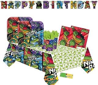 12 pezzi Amscan International 672209 Decorazioni colorate a forma di tartarughe Ninja