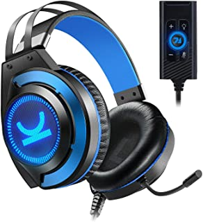 Gaming Headset, EZ.winpow Video Game Stereo Headphone with 7.1 Surround Sound Audio Adapter Noise Canceling Mic & Memory F...