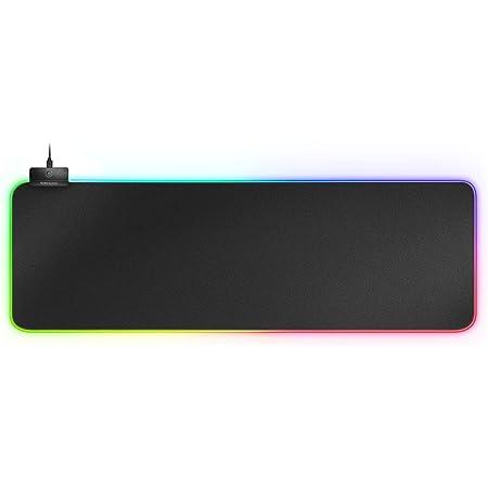 MARSGAMING MMPRGB2 XXL, Alfombrilla Ratón 800x300x4 mm, RGB 12 modos, 2 USB 2.0