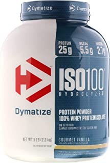 Dymatize Nutrition ISO-100 5lbs Hydrolyzed Whey Protein Isolate [Flavour Options: Gourmet Vanilla]