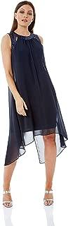 Women Cut Out Sequin Neck Dress Ladies A-Line