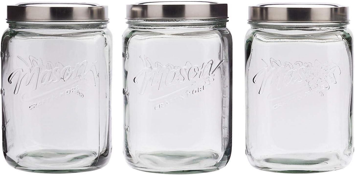 Mason Craft More Limited price sale Airtight Kitchen Dedication Storage Pop Glass Clear Food