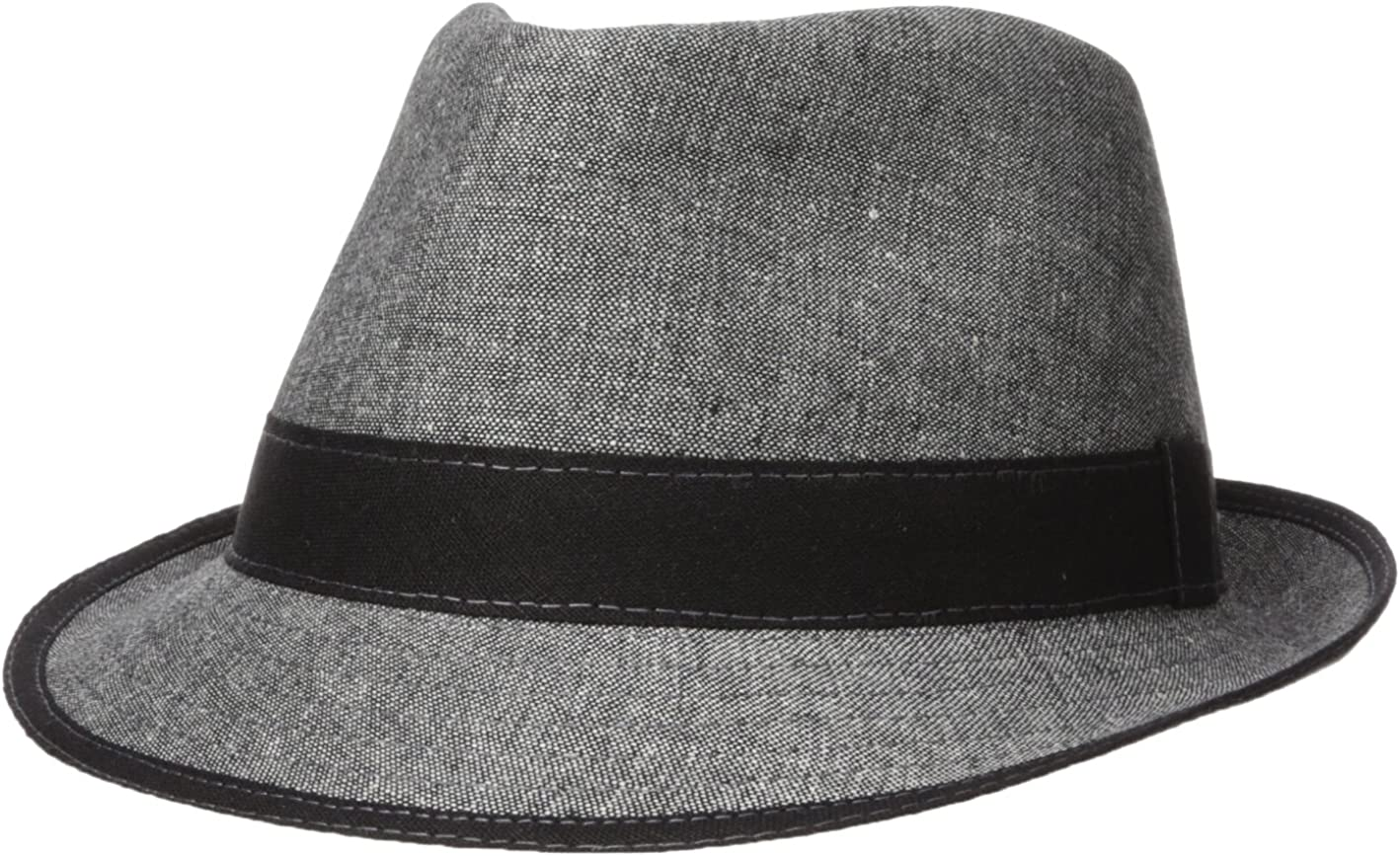 New product Arlington Mall Henschel Men's 100% Cotton Plaid with Fedora Self Band