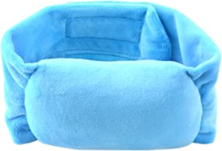 Adjustable Torticollis Neck Support Pillow Infant Head Positioner with Blue Flannelette for Baby Infant Newborn