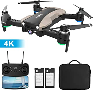 GPS Drone with 4K Camera 5G WiFi FPV RC Quadcopter for Adults Auto Return Home Function Follow Me...