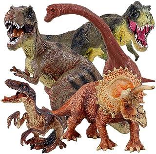 "Winsenpro 5PCS Jumbo Dinosaur Set,13"" Realistic Looking Dinosaur Toy Set for Party Gift,Boys Girls Children's Birthday Gif..."