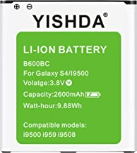 Galaxy S4 Battery, YISHDA 2600mAh Replacement Battery Compatible with Samsung Galaxy S4..