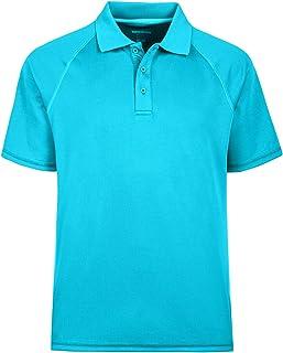 Corna Men's Short Sleeve Moisture Wicking Performance Golf Polo Shirt