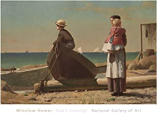 McGaw Graphics Dad's Coming!, 1873 by Winslow Homer Painting Print