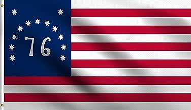 DMSE Bennington 76 USA Circle American Revolution Battle of Bennington 1776 Declaration of Independence United States Flag 3X5 Ft Foot 100% Polyester 100D Flag UV Resistant (3' X 5' Ft Foot)