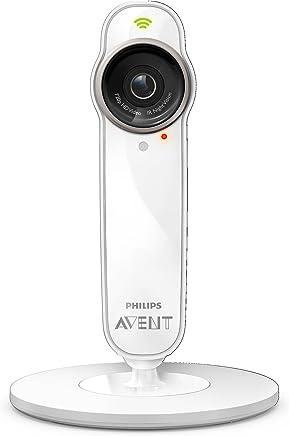 Philips AVENT SCD860/05 Wi-Fi/Ethernet Color blanco video-monitor para bebés - Vigilabebé (2x, 1280 x 720 Pixeles, Auto, Auto, 2,8 mm, H.264)
