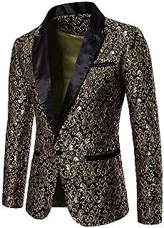 Laisla fashion Casual Blazer Mens Slim Fit Coat Classic Suit Jacquard Charm Men Casual 1 Button Suits Blazer Business Wedd...
