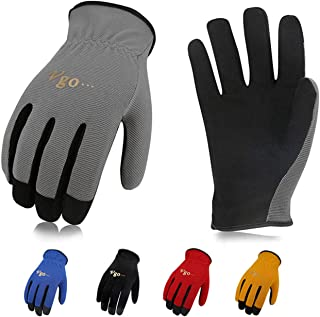 Vgo 5-Pairs Light-Duty Artificial Leather Work Gloves, Multi-Purpose & 360� Breathable Gloves, High Dexterity, Abrasion Resistant, Superior Colorfastness (Size L, 5 Colors, AL8736)