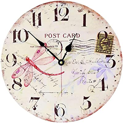 Yunfeng Wall Clock Silent,Café Decoration Frame-Free Quartz Wall Clock Mute Non-