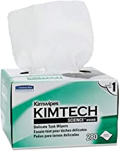 Kimtech 34120 Kimwipes Delicate Task Wipers, 1-Ply, 4 2/5 x 8 2/5, 280 per Box (Case of 30 Boxes)