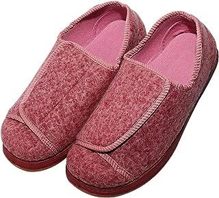 Cozy Ankle Women's Extra Wide Swollen Foot Slippers Elderly Women Diabetic Shoes for Edema Fasciitis Bunions Feet