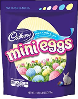CADBURY MINI EGGS Easter Candy, Milk Chocolate Eggs with a Crisp Sugar Shell, 31 Ounce Bag