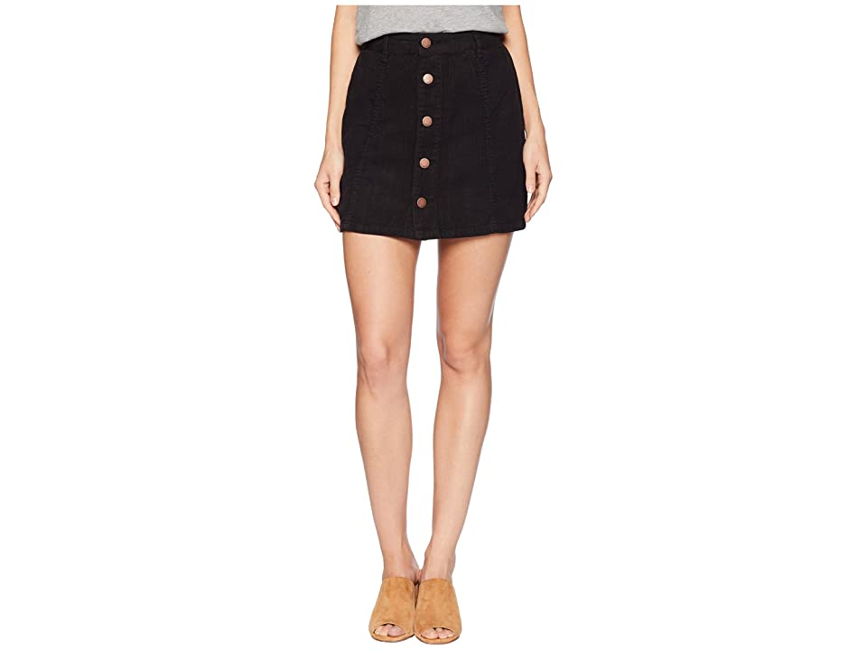 Billabong Push My Buttons Skirt (Black) Women