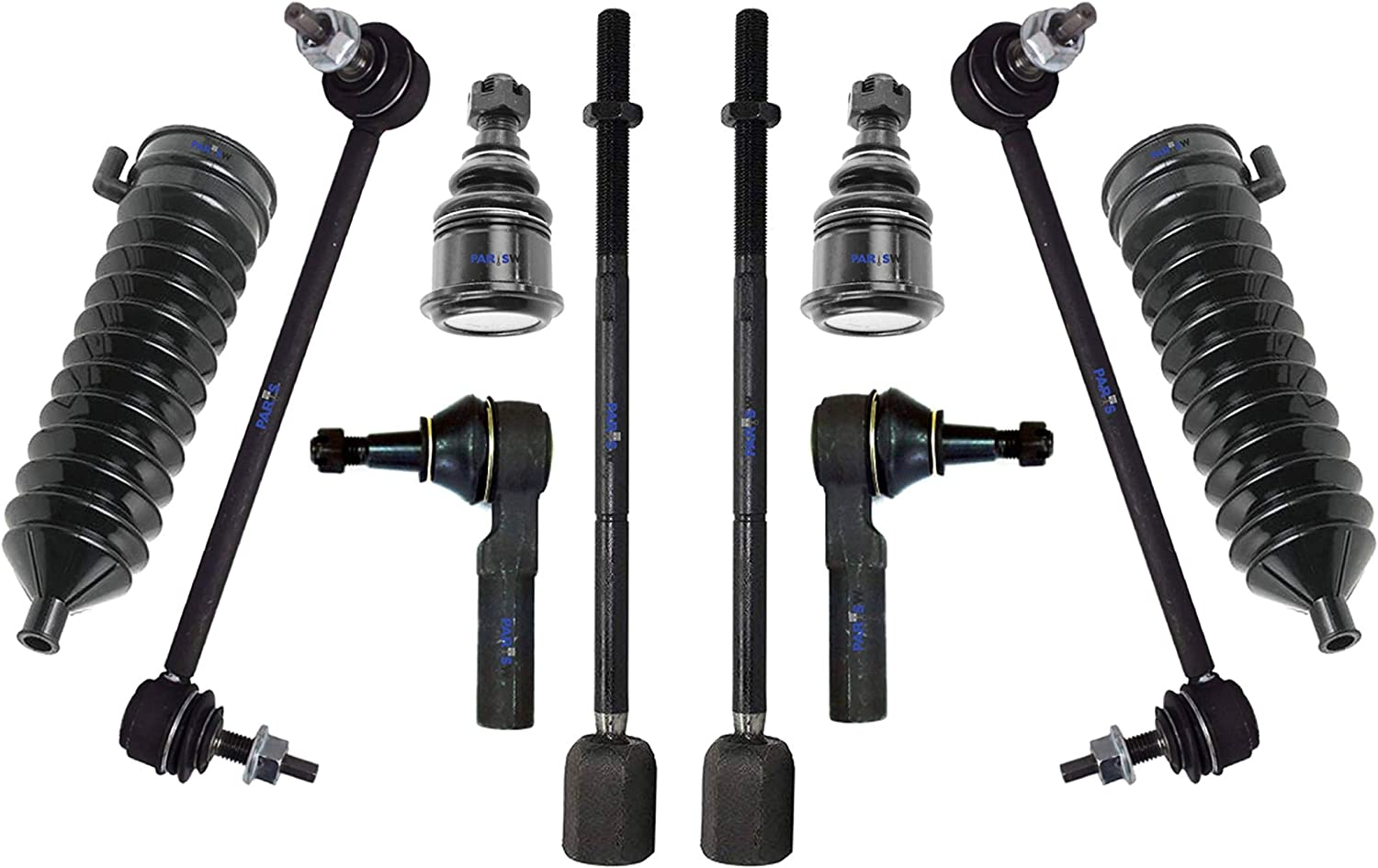 10 Pc New Suspension Kit Front Right Sway High material Cheap mail order specialty store Bar Side Links Left