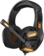 Best Gaming Headset for Xbox One, PS4 Gaming Headset with 7.1 Surround Sound Stereo, Noise Canceling Over Ear Headphones with Mic, LED Light, Soft Memory Earmuffs for Nintendo Switch, PC, Mac, Laptop Review