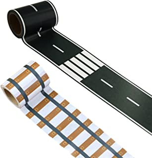 Realway & Road Tape Creative Traffic for Kids Birthday Car & Train Party Gift 80cm x 6.1cm Each Roll