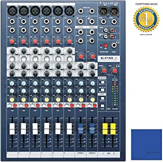 Soundcraft EPM6 High-Performance 6-channel Audio Mixer with Microfiber and 1 Year Everything Music Extended Warranty