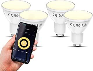 B.K.Licht I smart lamp I slimme lichtbronnen I smart light I LED WiFi lamp I GU10 verlichting I warm wit licht I voice con...
