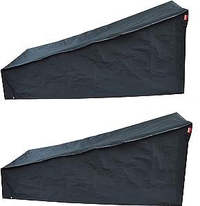 acoveritt Black Series - 2PCS Waterproof Heavy Duty Chaise Lounge Cover (69