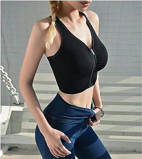 Front Zipper Sports Bra Women Underwear Push Up Yoga Crop Top Bras Solid Athletic Vest Gym Fitness Shirt Sportswear