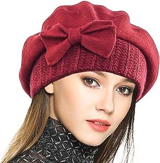 42ed2a31434 VECRY Women s 100% Wool Bucket Hat Felt Cloche Bow Dress Winter Hats