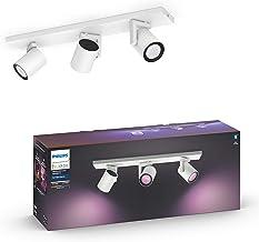 Philips Hue Argenta Opbouwspot 3-Lichts - Duurzame LED Verlichting - Wit en Gekleurd Licht - Dimbaar - Verbind met Bluetoo...