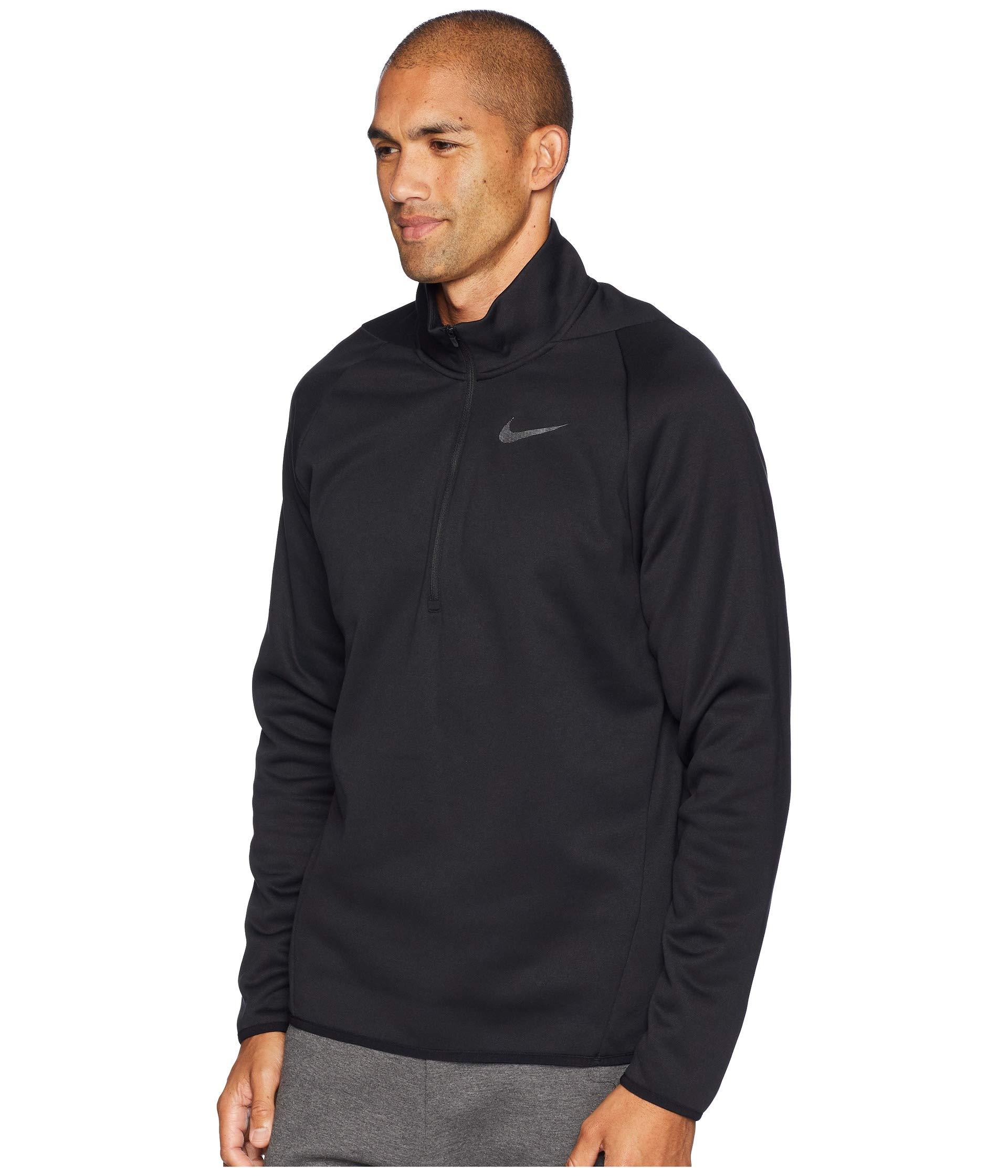 4 1 Zip dark Sleeve Thermal Long Nike Grey Black Top 4qAARH