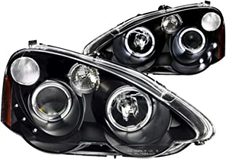 AnzoUSA 121359 Black/Clear/Amber Halogen Projector Headlight for Acura RSX