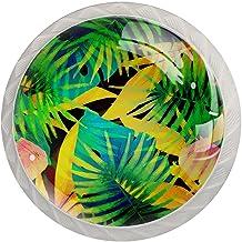FURINKAZAN Kabinet Knop Trek Handvat Tropische Blad 4-Pack Keuken Kastdeur
