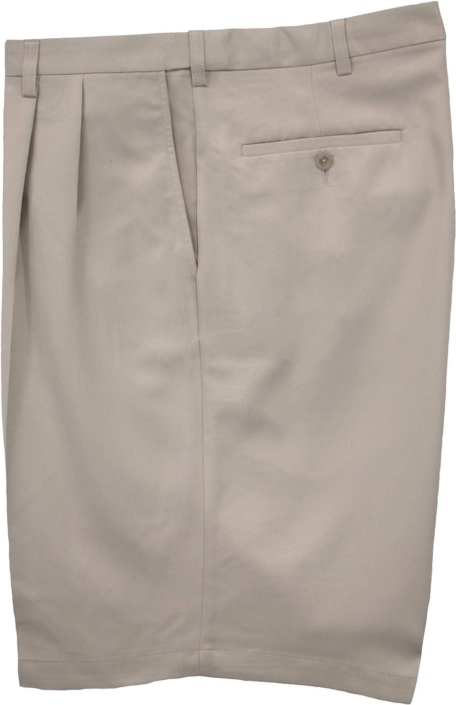 Haggar Big & Tall Men's Pleated Casual Shorts Expandable Waist