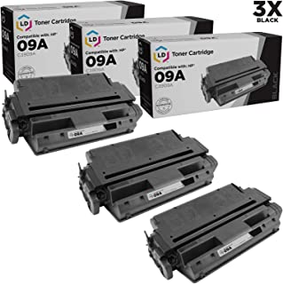 LD Remanufactured Toner Cartridge Replacement for HP 09A C3909A (Black, 3-Pack)