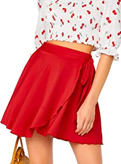 Best red wrap skirt Reviews
