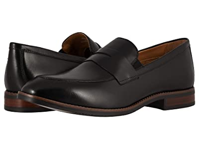 Nunn Bush Fifth Ave Moc Toe Penny Slip-On (Black) Men