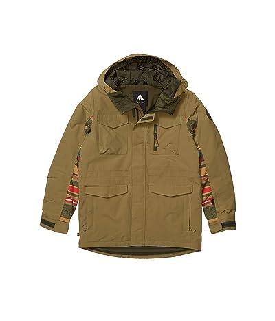 Burton Kids Covert Jacket (Little Kids/Big Kids) (Martini Olive/Gratz Stripe) Boy