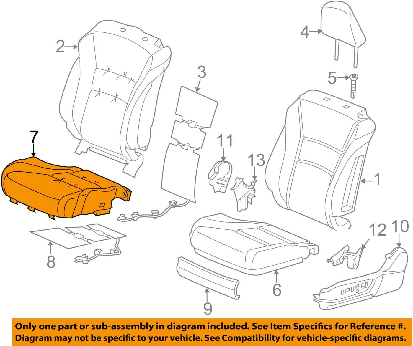 Fees free!! Honda Genuine 81531-T3L-A41ZB Seat Cushion Left Cover Trim Now free shipping Fro
