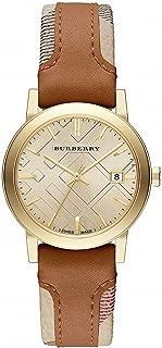 Burberry The City Haymarket Check Leather Ladies Watch BU9133